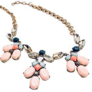 Jewelry - J. Crew Pink Droplet Enamel Statement Necklace